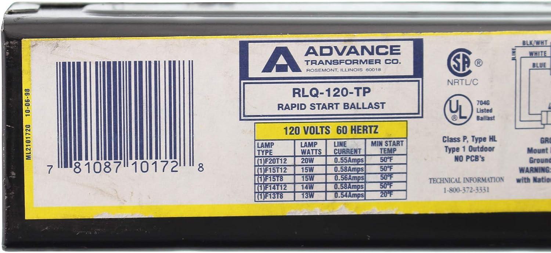 1 Each Philips Advance Trigger Start 15W//20W 120V 2 Lamp Magnetic Ballast