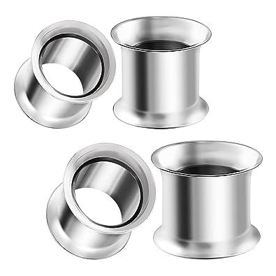 Amazon.com: BIG GAUGES 2 pares de piercings de acero ...
