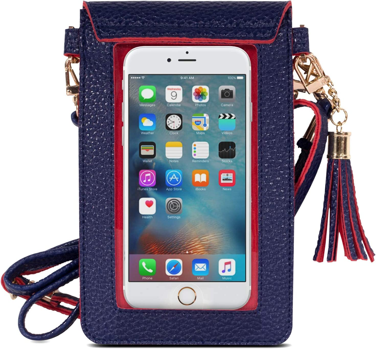 Womens Mobile Phone Bag Crossbody Mobile Phone Pouch Wallet for Women Dragon Honor Touchable PU Leather Change Bag