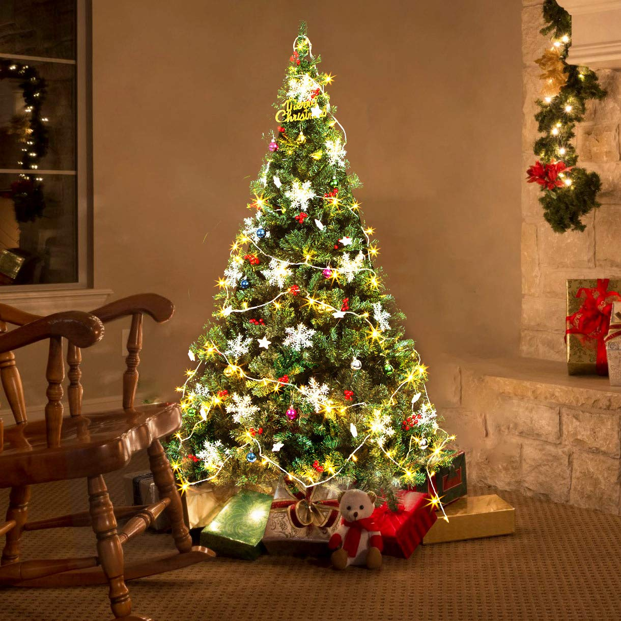 94445e2bce91 Amazon.com  MeiLiMiYu Christmas Tree Green National Tree Beautiful Christmas  Trees Indoor and Outdoor Home Decoration  Home   Kitchen