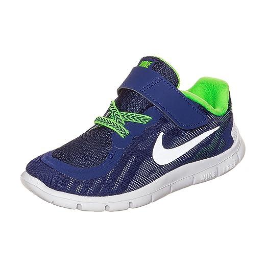 Nike Toddler Boys Free 5.0 Running Shoes (5, BLUE)