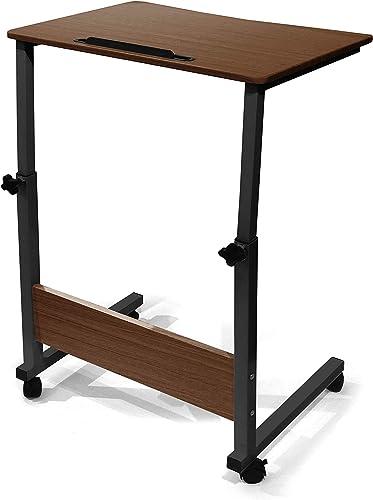 Urban Shop Wood Adjustable Rolling Laptop Desk