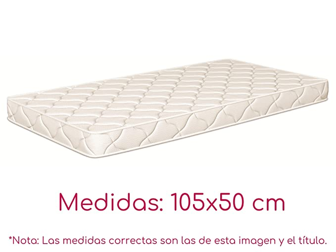 NATURALIA - Colchon cuna thermofress, talla 110x55cm, color blanco: Amazon.es: Hogar