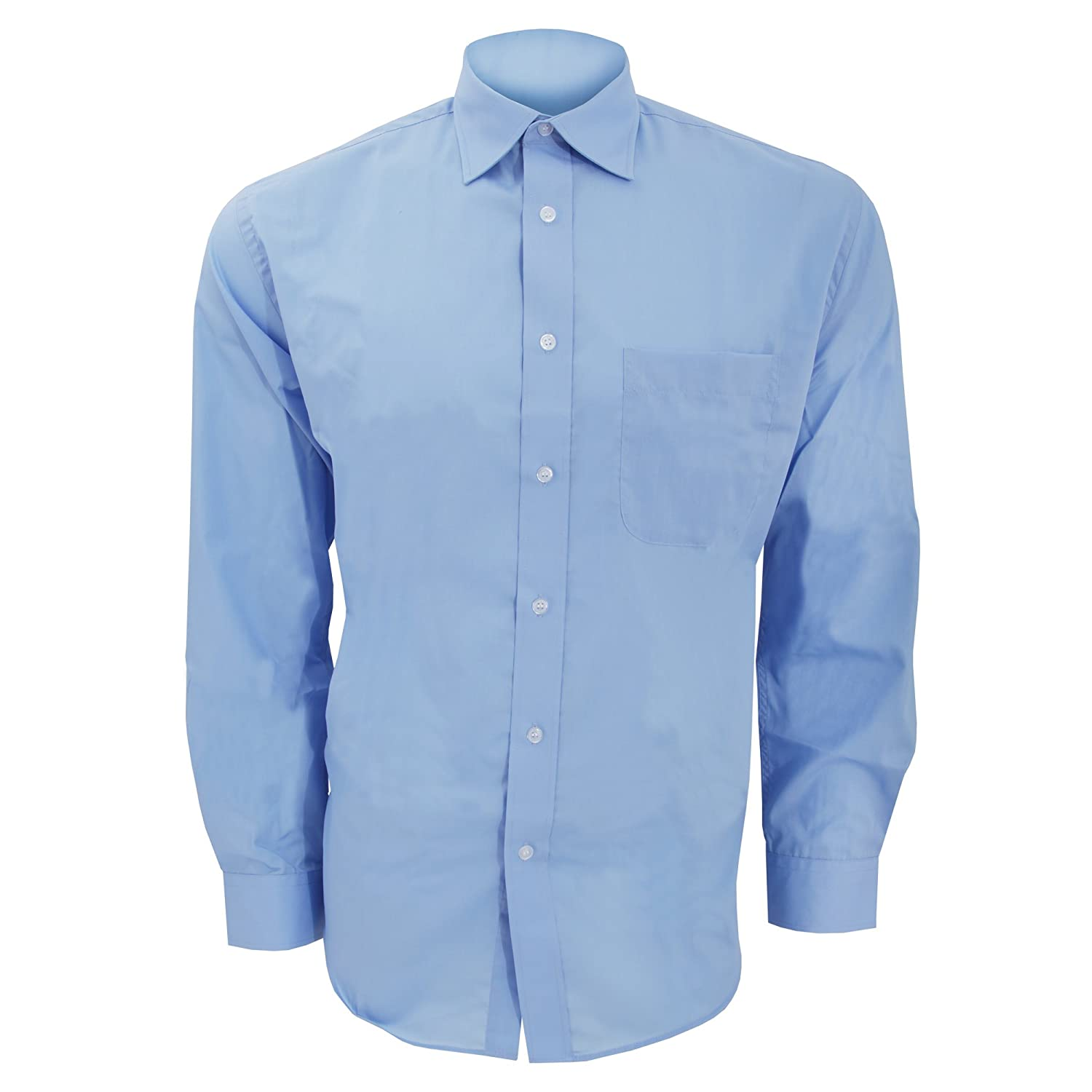 KUSTOM KIT Mens Long Sleeve Business Shirt