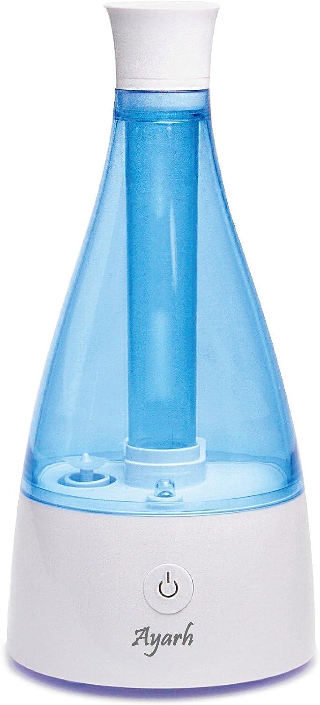 Ayarh Ultrasonic Humidifier with Night Lamp. 700ml Water Tank. Stylish Tower Design.