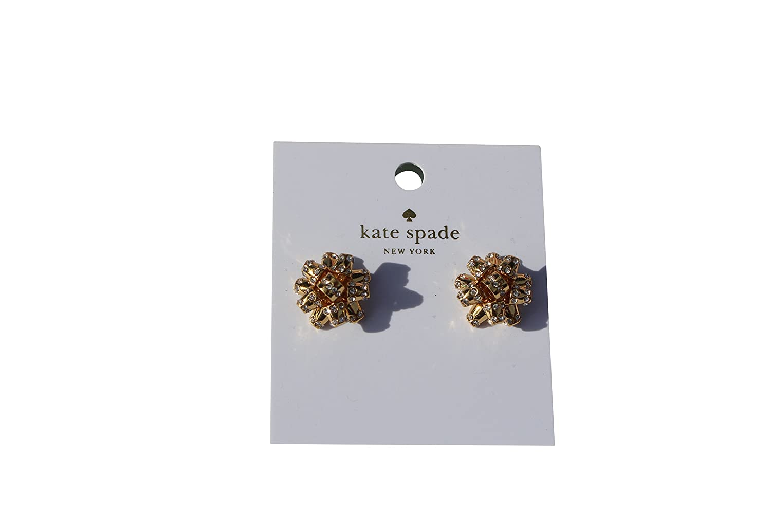 Amazon.com: Kate Spade Pave Bourgeois Bow Earrings, Golden: Jewelry