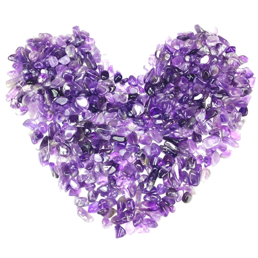 Hihamer Gravel Pebble glass Sand stone rocks glass or crystal gravel stones for Aquarium Decorative Fish Tank or Yard (Amethyst)