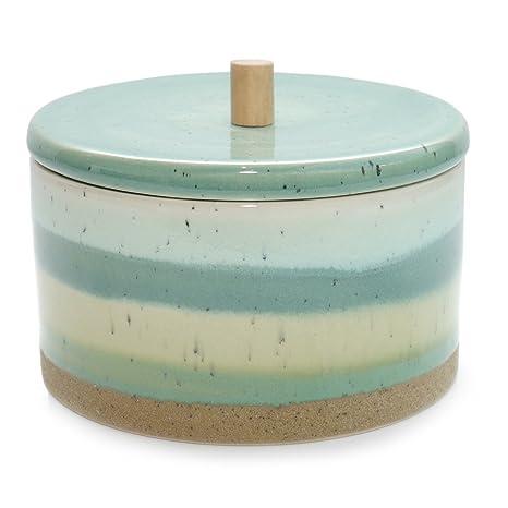 Ceramica Dose Ecolo - Barattolo turchese verde Barattolo in ceramica ...