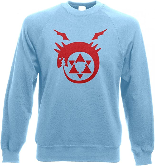 572c0a7b80 Something Geeky PP Ouroboros Adult Crewneck Sweatshirt - Inspired By Full  Metal Alchemist (Small (40