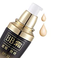 Tinted Facial Moisturizer Sunscreen BB Cream with SPF32 Hydrating Sunblock, Safe Mineral Foundation Light CC for Face Makeup Brighten Skin Tone