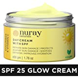 Nuray Naturals Vegan Day Cream with Spf 25 + for Skin Fairness, Whitening, Anti Ageing and Wrinkle Glow, 50 g