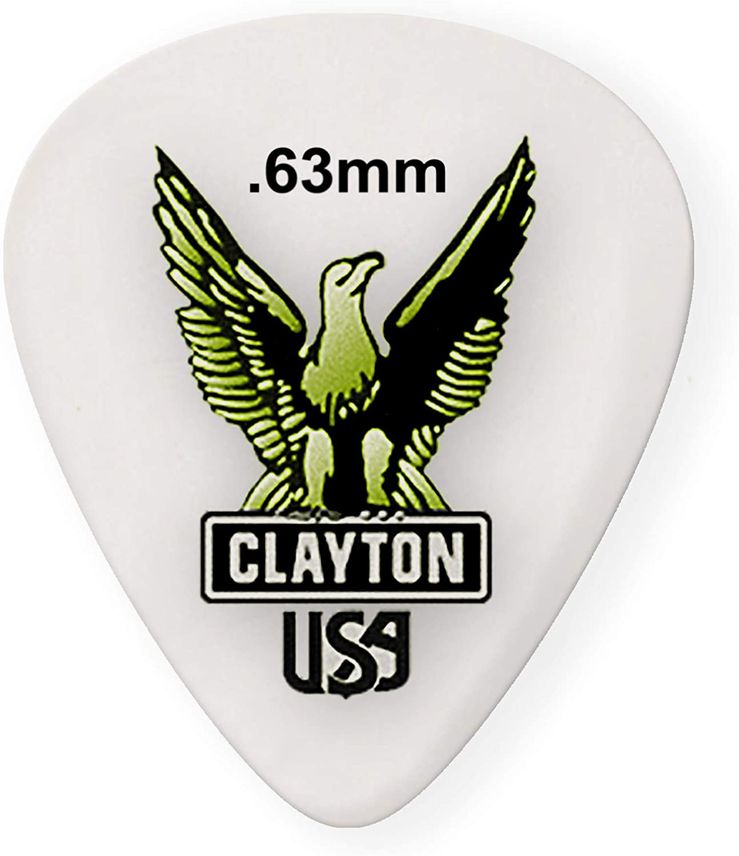 Clayton Picks Clayton Acetal Standard Picks Acoustic Guitar Body (S63)