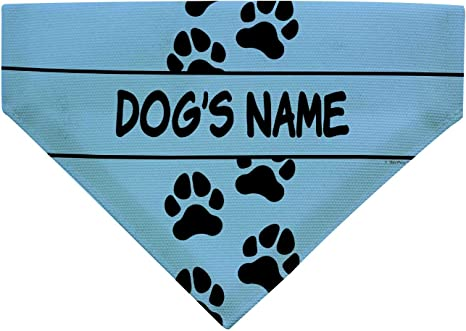 Personalized over the collar dog bandana custom embroidered puppy bandana christmas gift for dog lover