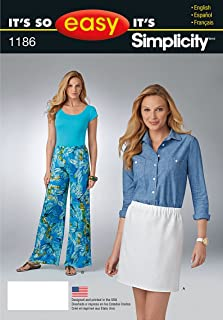 product image for Simplicity Patterns US1186A It's So Easy Skirt and Pants, A (8-10-12-14-16-18)