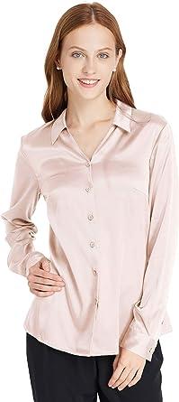 Lilysilk Camisa de Seda para Mujer, Camisa de Trabajo, Blusa de Seda, Camisa, Camisa, Camisa, Blusa, Camisa, Camisa, Camisa para Mujer, 19 Momme Embalaje Hell Beige S: Amazon.es: Ropa y accesorios