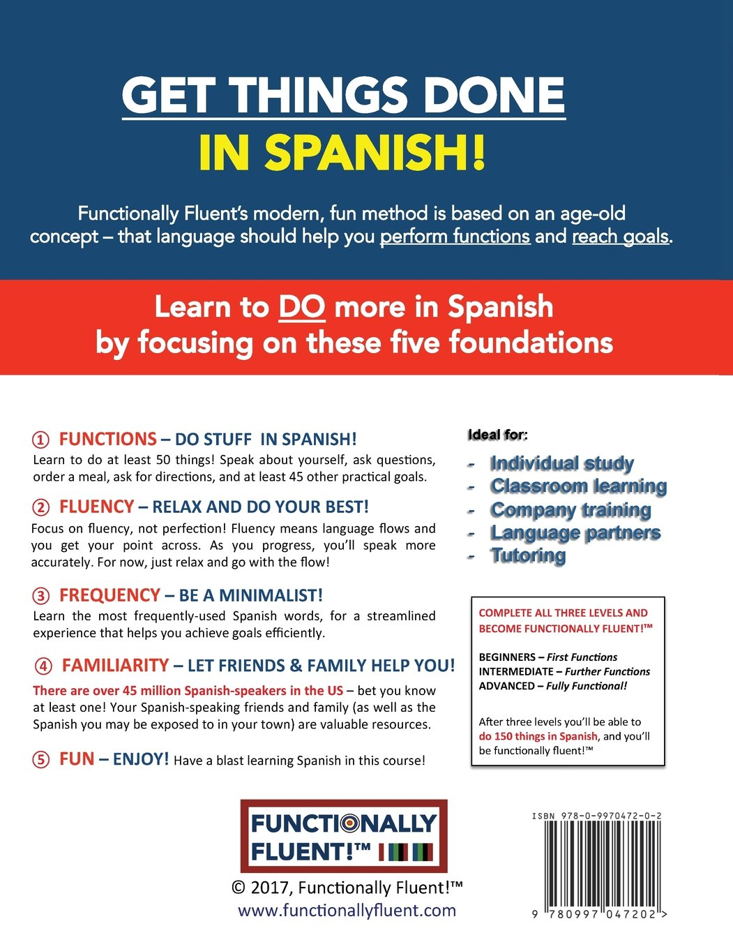 Beginner Spanish Course, including full-color Spanish coursebook and audio  downloads: Learn to DO things in Spanish, fast and .
