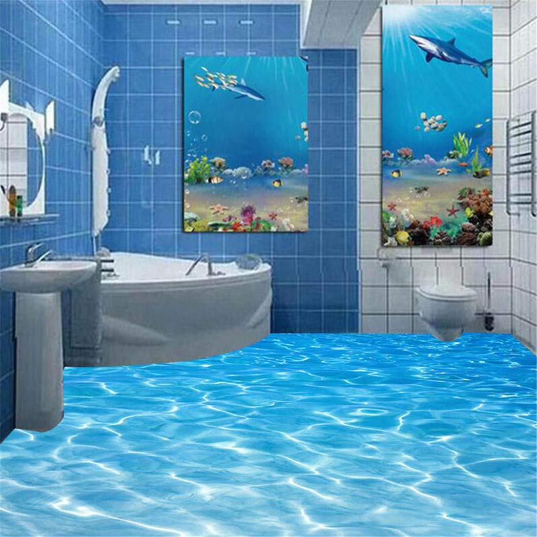 Benutzerdefinierte 3D Boden Wandbilder Tapete Meerwasser Oberfläche Oberfläche Oberfläche Ripple Fototapete PVC Wasserdichte Badezimmerboden Aufkleber Vinyl Tapeten, 300  210 cm B07L13PYX8 Wandtattoos & Wandbilder 13c943