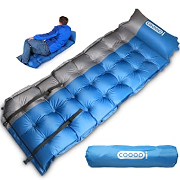 SELF INFLATING C&ing Sleeping Pad Mat Mattress Bed COOODI Extra Thick Lightweight With Pillow For C&ing  sc 1 st  Amazon UK & SELF INFLATING Camping Sleeping Pad Mat Mattress Bed COOODI Extra ...