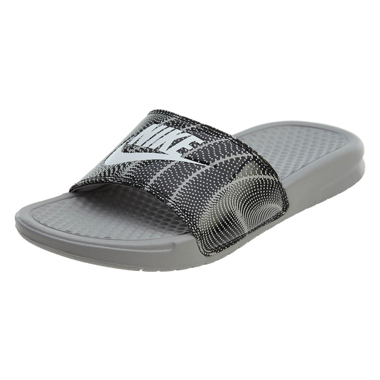 NIKE B07C2P7279 Women's Benassi Just Do It. Sandal Black B07C2P7279 NIKE 9 B(M) US|Atmosphere Grey/White-black 453056