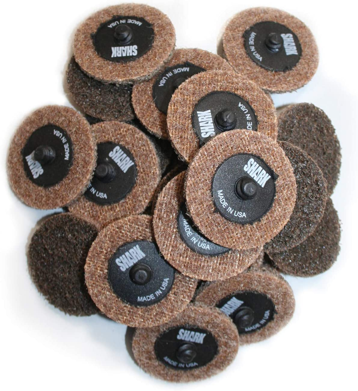Shark Shark 13062 2-Inch Quick Change Surface Conditioning Discs Pack-25 Brown Grit-Coarse