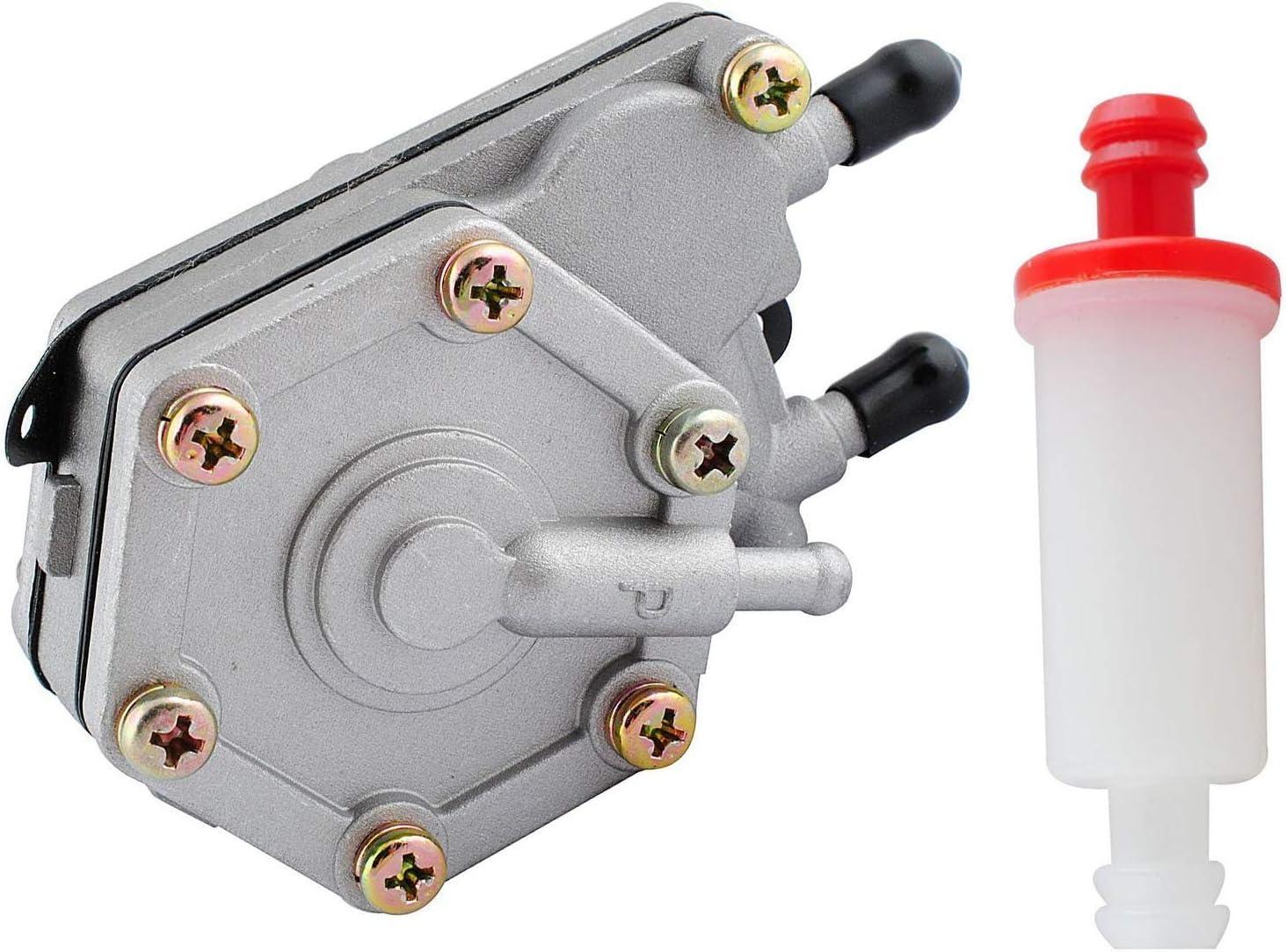 Poweka 2520227 Pompe /à carburant pour Polaris Sportsman 325 400 500 600 700 6 x 6 Magnum 325 avec 2530009 Filtre /à carburant en ligne