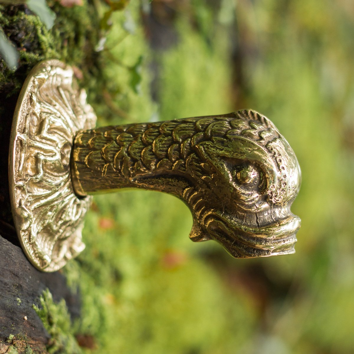 Antikas - Brass Water Dispenser, Koi Fountain Figure, Gargoyle with Fish Head 1/2 inch