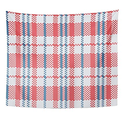 Amazon Com Seenpin Tapestry Check Tartan Trendy Design And House