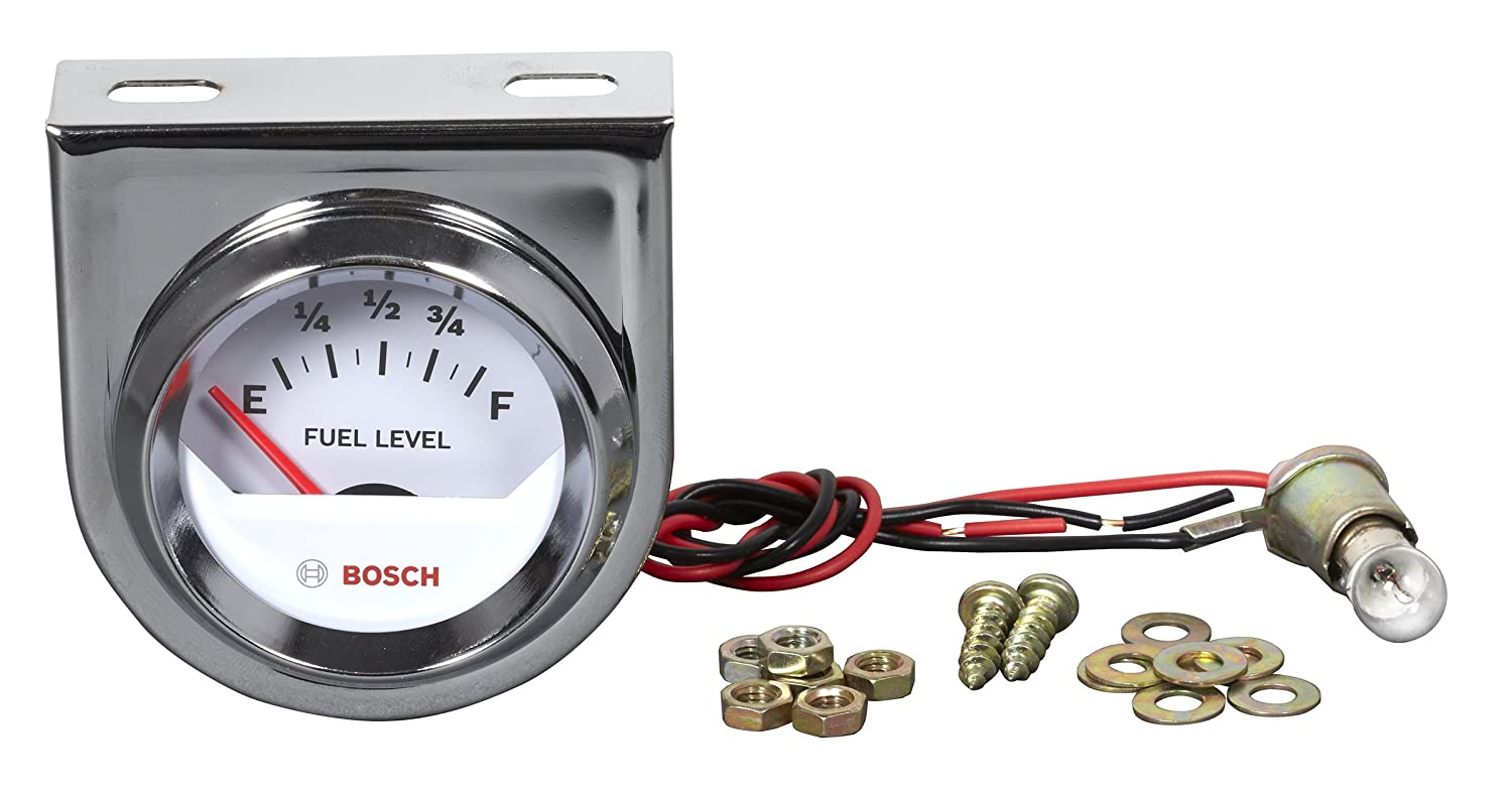 Bosch Sp0f000048 Style Line 2 Electrical Fuel Level Wiring A Gauge White Dial Face Chrome Bezel Automotive