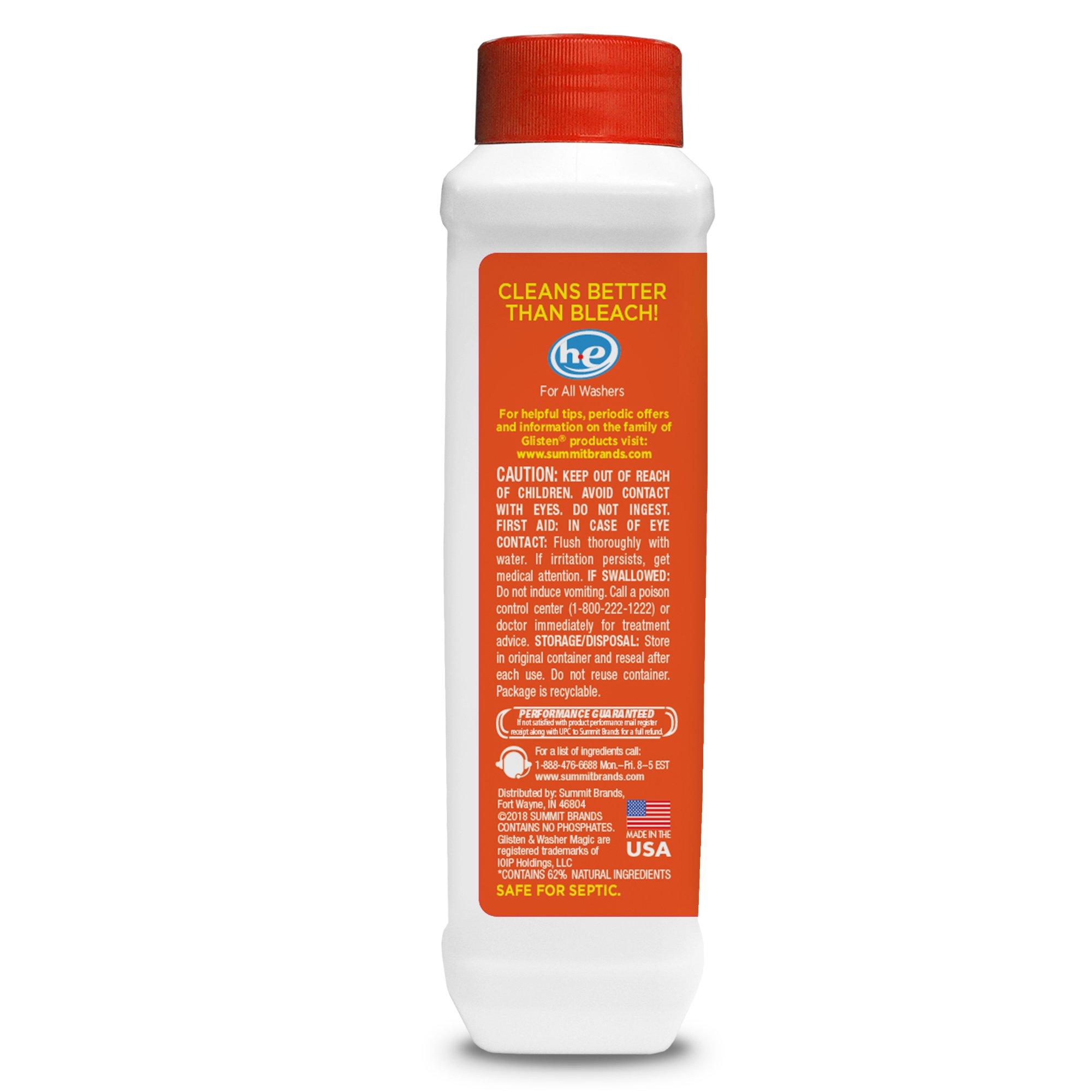 Glisten Washer Magic Washing Machine Cleaner & Deodorizer, 12 Fl. Oz. Bottle, 12 Pack by Glisten (Image #3)