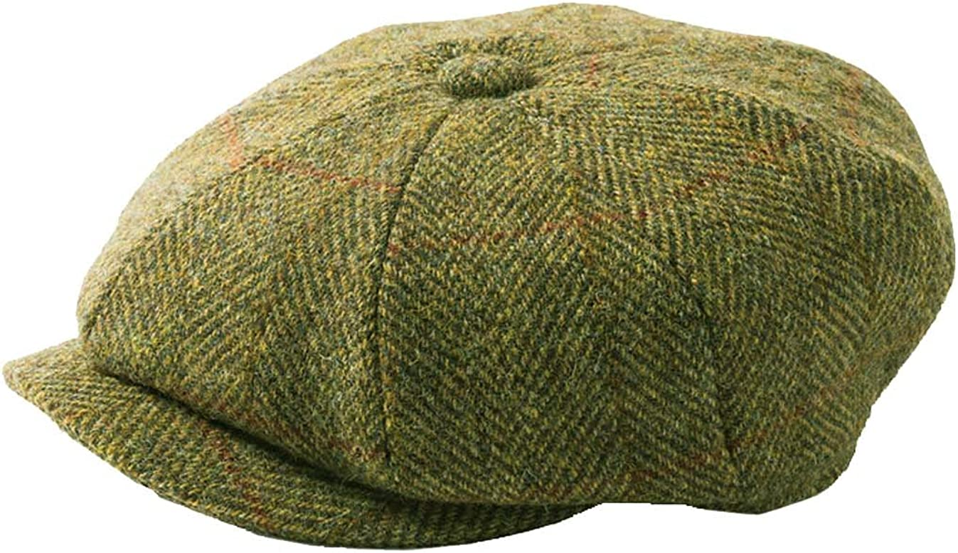 Failsworth brown herringbone tweed cap