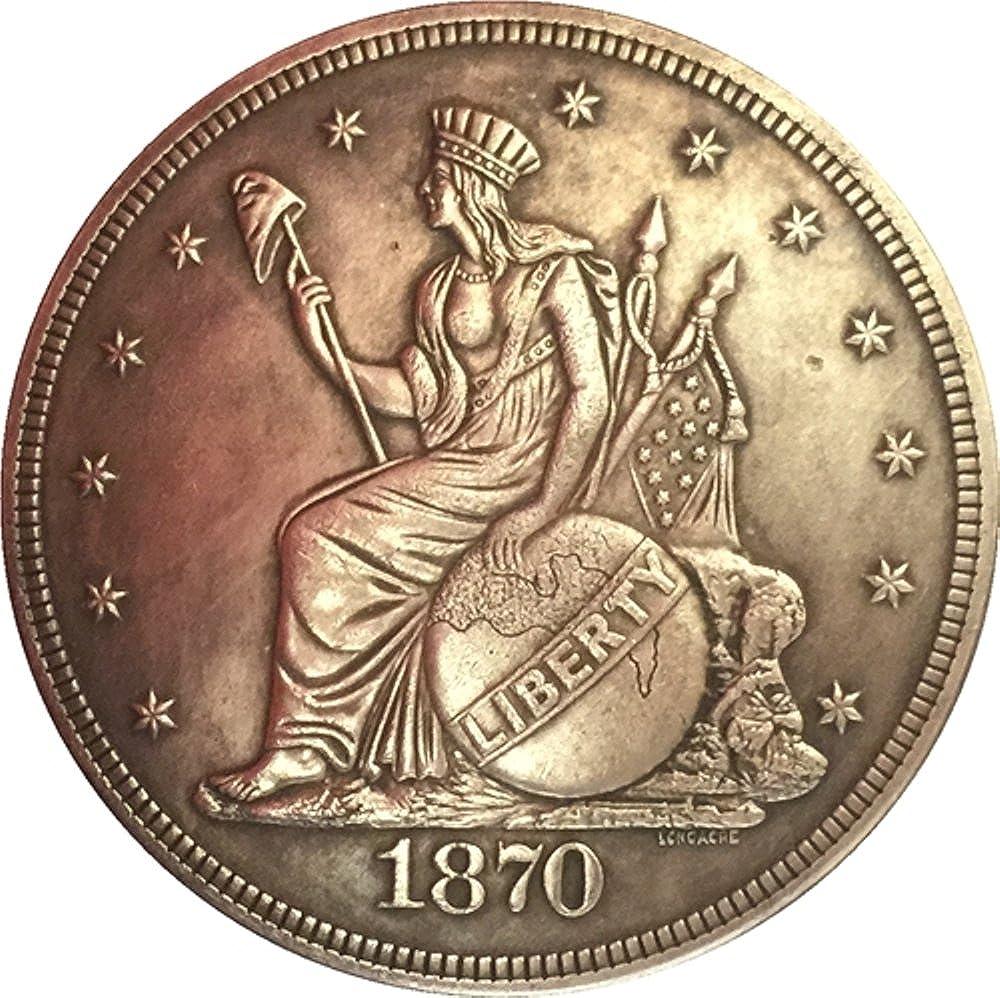 オーダーメイドのお土産 レア アンティーク アメリカ合衆国 1870年 座った自由 素晴らしいシルバーカラー ドル硬貨   B07JM5MJFR