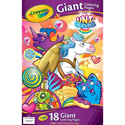 "Crayola 04-0525 Giant Coloring Pages 12.75""X19.5""-Uni-Creatures: Arts, Crafts & Sewing"