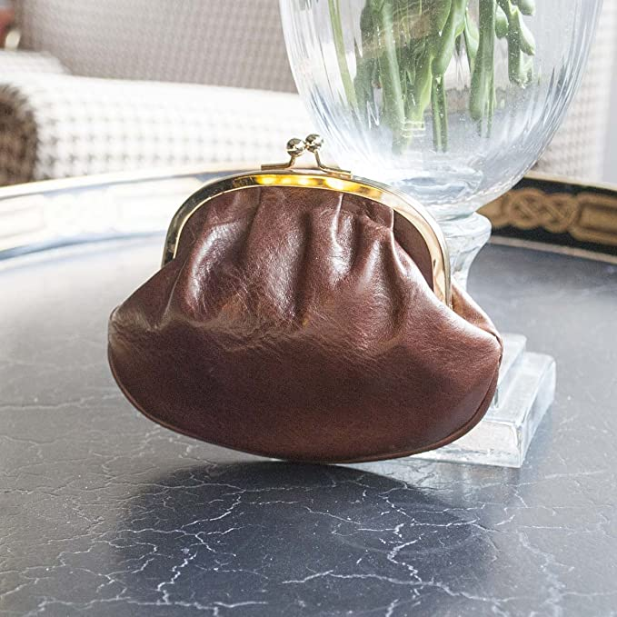 Maxwell Scott Italian Leather Ball Clasp Coin Purse - Sabina ...