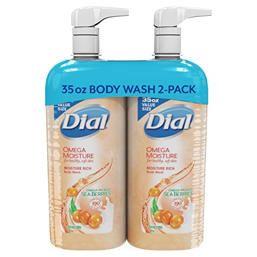Dial Omega Moisture Sea Berries Moisture Rich Body Wash (35 fl. oz, 2 pk)