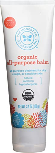 The Honest Company Organic All-Purpose Balm Certified Organic Plant-Based Hypoallergenic Skin Care Organic Sunflower, Olive, Coconut and Tamanu Oil Soothe...