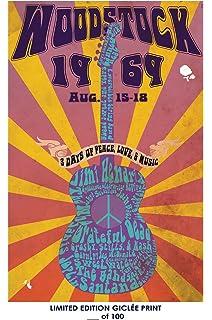 RARE POSTER Concert WOODSTOCK Music 1969 REPRINT D 100 12x18