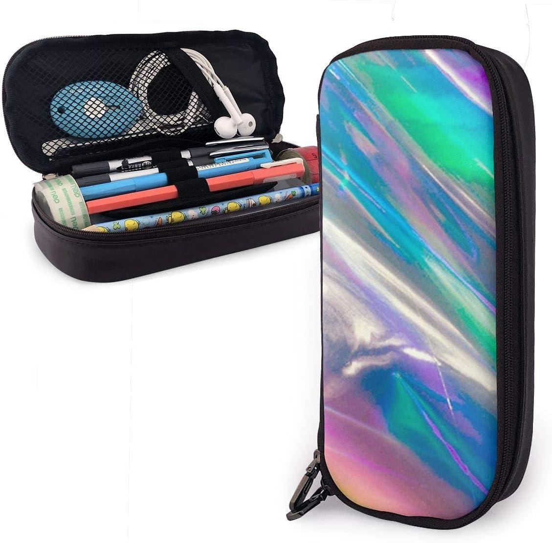Estuche para lápices con diseño holográfico de arcoíris brillante para niños y niñas, estuche grande para lápices y bolígrafos, para estudiantes, universidad, suministros escolares y oficina: Amazon.es: Oficina y papelería