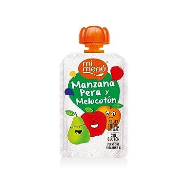Mi Menú TETES Bolsita Manzana Pera Melocotón 100 g [Pack de 7 uds]