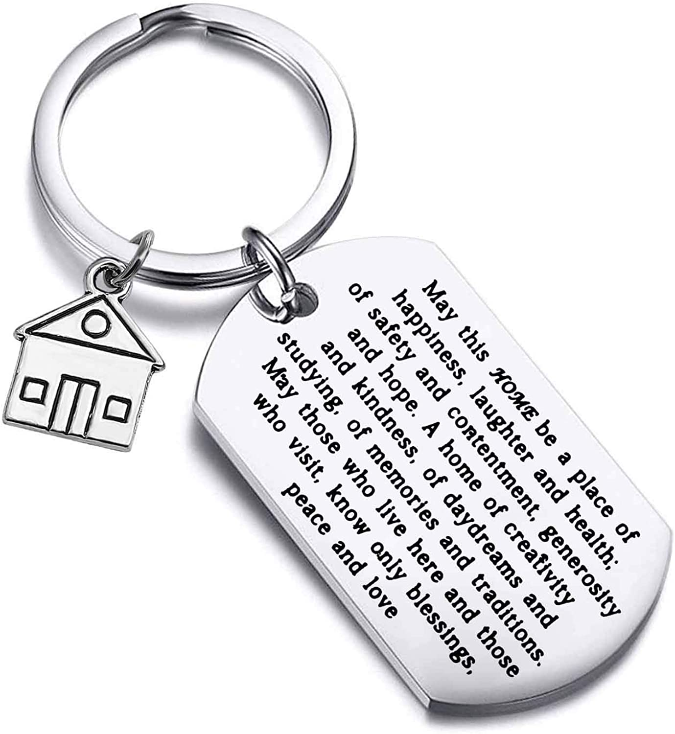 FUSTMW Housewarming Gift New Home Keychain Gift for New Homeowner Jewelry Moving in Gift House Keyring First Home Gift Realtor Closing Gifts