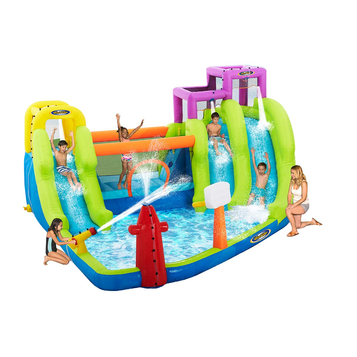 Riptide Triple Fun Inflatable PVC Water Park with 3 Slides & Obstacle Course by Riptide (Image #2)