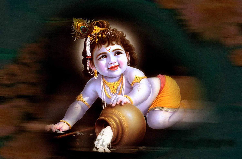 100Yellow® Bal Krishna Paper Wall Posters (12X18-Inch, Multicolour ...