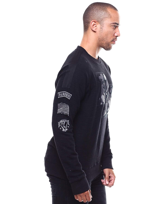 PARISH NATION Black Camo Logo Raglan Slub Sweatshirt