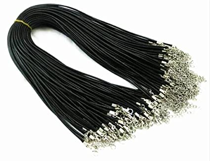 a5a74330b Image Unavailable. Image not available for. Color: Braided Leather Snake Necklace  Beading Cord String pe Chain Rope Clasp ...