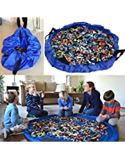 Youdepot Children's Play Mat and Toys Storage Bag, 60-inch.Baby Kids Play Floor Mat - Blue