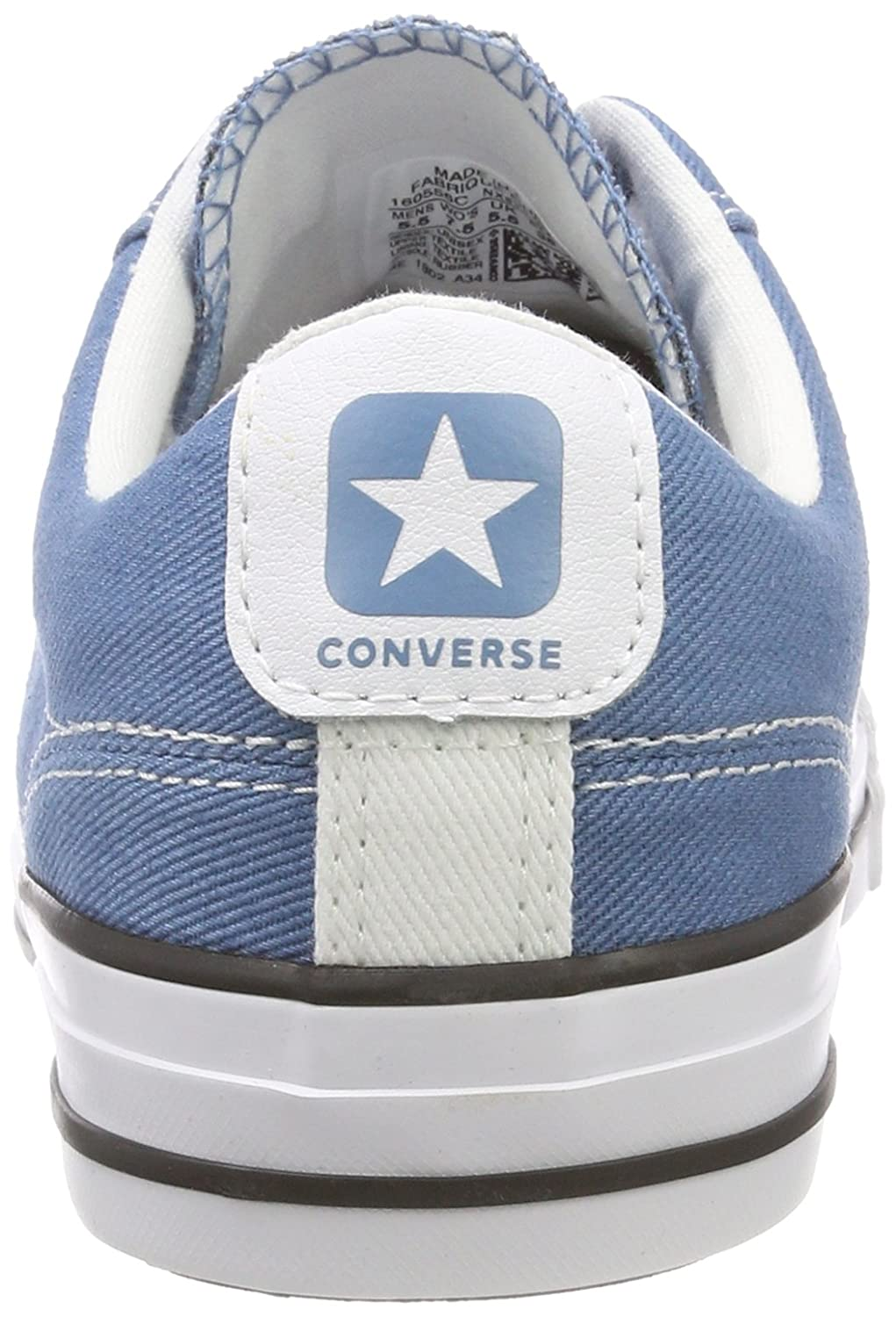 Converse Unisex Adults  Star Player Ox Aegean Storm White Black Trainers   Amazon.co.uk  Shoes   Bags 77a4b66cf8a