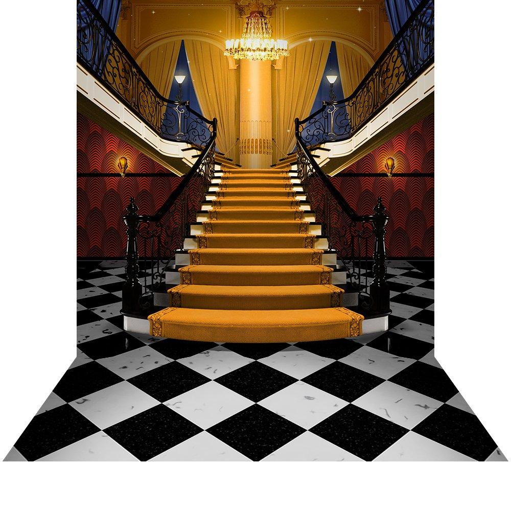 床 – ギャツビー階段写真バックドロップwith – 10 x 20 ft。 – 100 %シームレスなポリエステル   B01N07IWCC