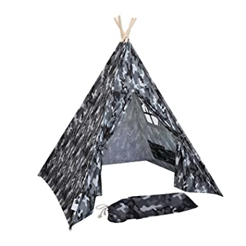 separation shoes 56c7d 03bbf UKadou Camouflage Teepee Tent Boys - Kids Play Tent Children ...