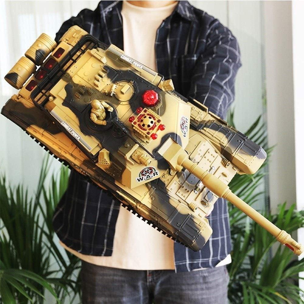 Mopoq オフロードRCドリフト弾丸車の戦闘部隊のためにUSBタンクリモートコントロールシミュレーションキット、キャノンボール大砲子供の玩具ギフトに回転サウンドタレットリコイルを起動します (Size : Battery 2)