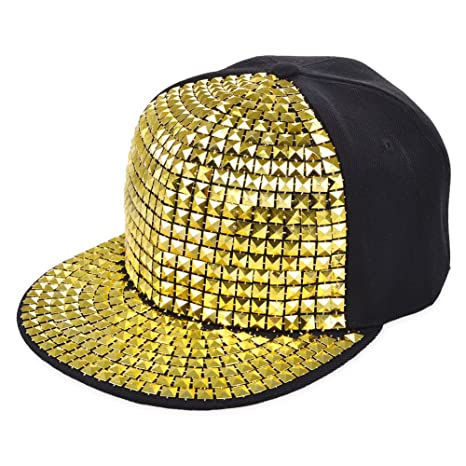 Vbiger Unisex Snapback Hat Flat Baseball Cap Hip Hop Hats (Yellow) at Amazon Mens Clothing store: