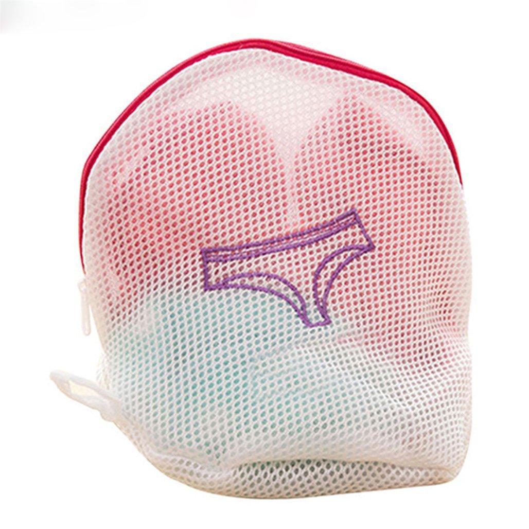 BODHI2000zipper mesh lavanderia pieghevole Bra intimo calzini lavaggio bag Storage, Mesh, White, For Bra TRTAZ11A